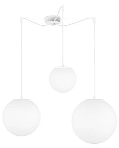 Matně bílé tříramenné závěsné svítidlo Sotto Luce Tsuki