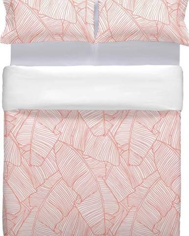 Růžové bavlněné povlečení na přikrývku Marghett Coral, 220 x 220 cm