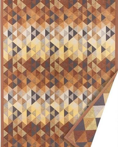 Hnědý oboustranný koberec Narma Kiva, 70 x 140 cm