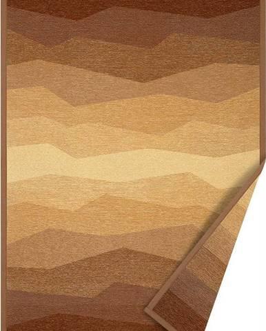 Hnědý oboustranný koberec Narma Merise, 80 x 250 cm