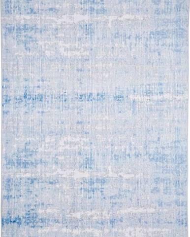 Šedo-modrý koberec Floorita Abstract, 80 x 150 cm