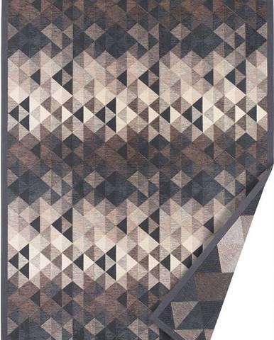 Šedý oboustranný koberec Narma Kiva, 70 x 140 cm