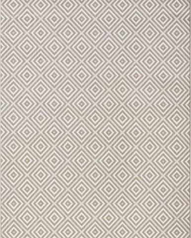 Šedý venkovní koberec Bougari Karo, 160x230cm