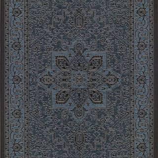 Černo-šedý venkovní koberec Bougari Anjara, 200 x 290 cm