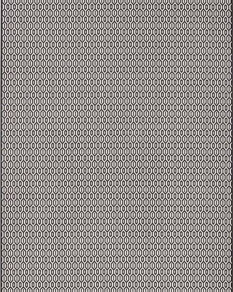 Bougari Černo-bílý venkovní koberec Bougari Coin, 160x230cm