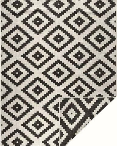 Černo-krémový venkovní koberec Bougari Malta, 80x150 cm