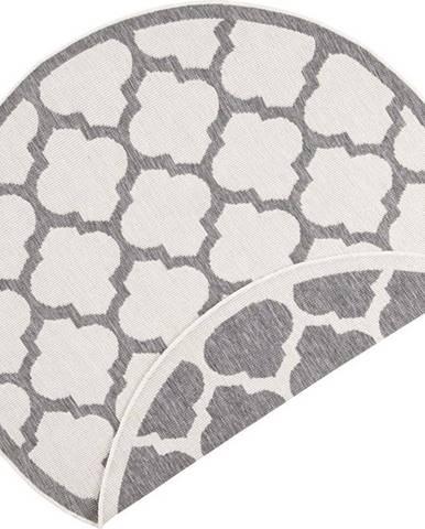 Šedo-krémový venkovní koberec Bougari Palermo, ⌀ 140 cm