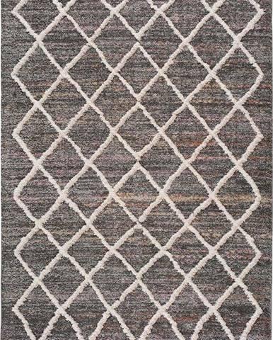 Šedý koberec Universal Farah Cross, 140 x 200 cm