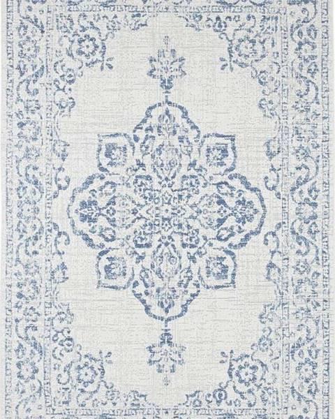 Bougari Modro-krémový venkovní koberec Bougari Tilos, 120 x 170 cm