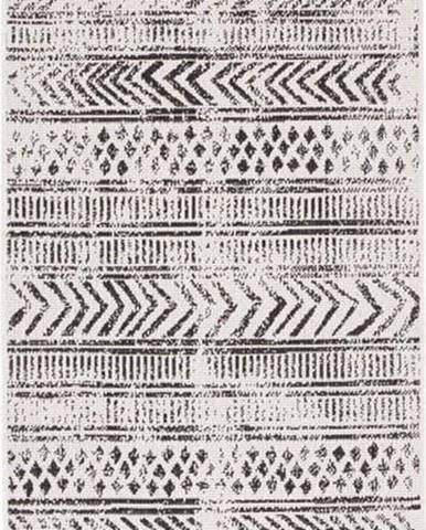 Černo-krémový venkovní koberec Bougari Biri, 80 x 250 cm