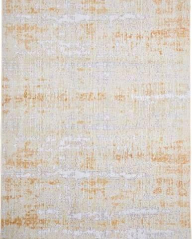 Šedo-žlutý koberec Floorita Abstract, 160 x 230 cm