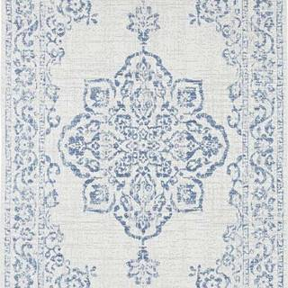 Modro-krémový venkovní koberec Bougari Tilos, 120 x 170 cm