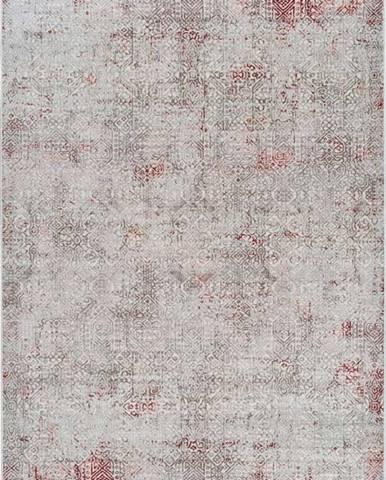 Šedo-růžový koberec Universal Babek, 160 x 230 cm