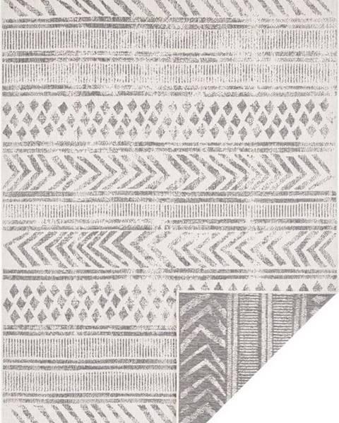 Bougari Šedo-krémový venkovní koberec Bougari Biri, 80 x 150 cm