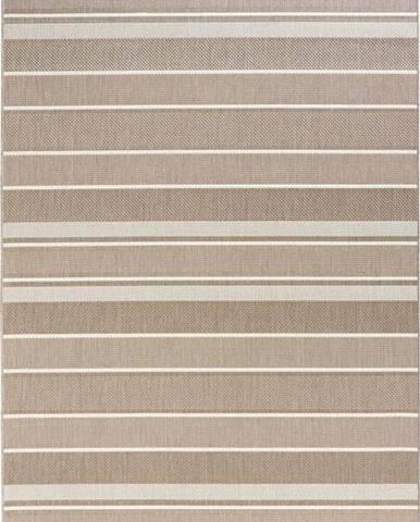Béžový venkovní koberec Bougari Strap, 80x150cm