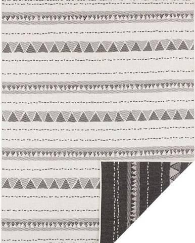 Černo-krémový venkovní koberec Bougari Bahamas, 80 x 150 cm