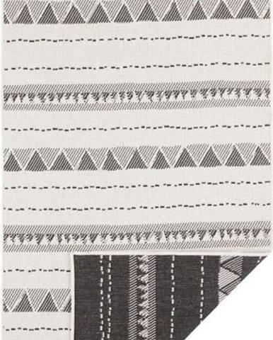 Černo-krémový venkovní koberec Bougari Bahamas, 80 x 250 cm