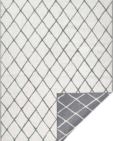 Šedo-krémový venkovní koberec Bougari Malaga, 120x170 cm