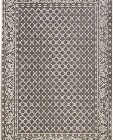 Šedo-krémový venkovní koberec Bougari Royal, 160x230cm