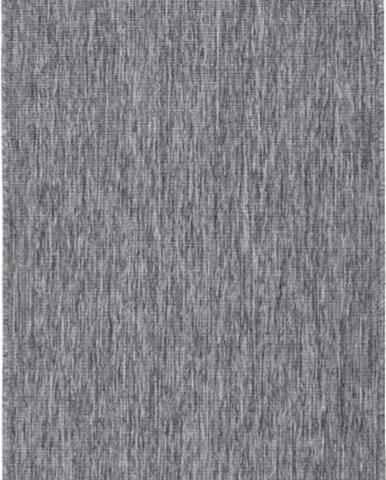 Šedý venkovní koberec Bougari Miami, 80x350 cm