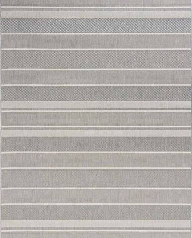 Šedý venkovní koberec Bougari Strap, 120x170cm