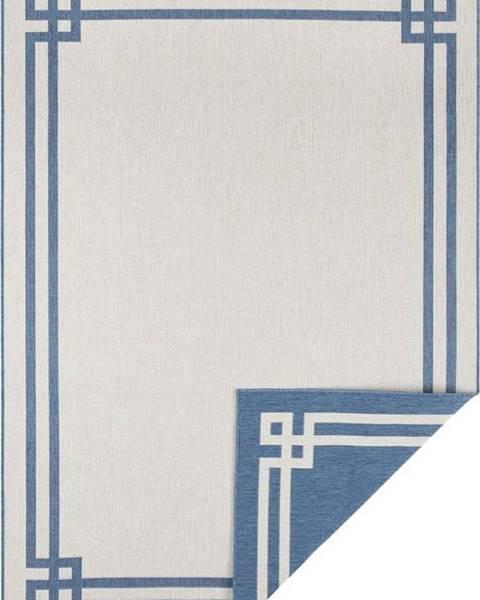 Bougari Modro-krémový venkovní koberec Bougari Manito, 200 x 290 cm
