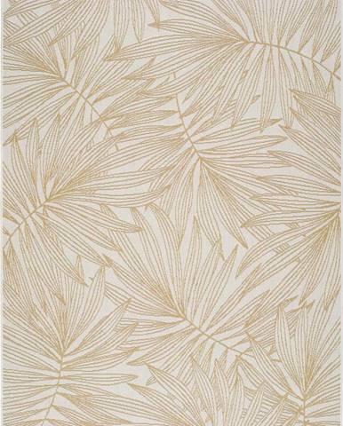Béžový venkovní koberec Universal Hibis Leaf, 160 x 230 cm