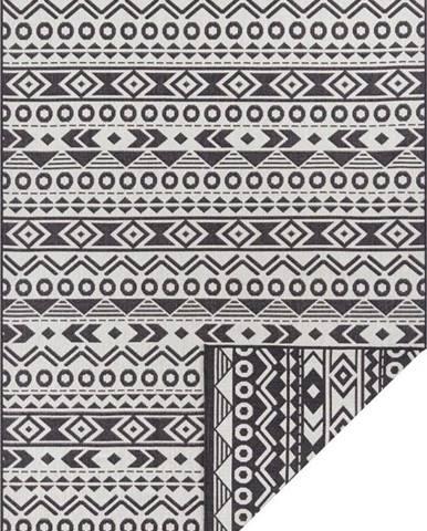 Černo-bílý venkovní koberec Ragami Roma, 80 x 150 cm