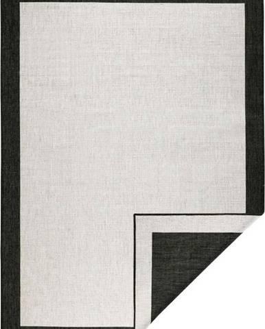 Černo-krémový venkovní koberec Bougari Panama, 120x170 cm