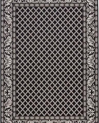 Černo-krémový venkovní koberec Bougari Royal, 115x165cm