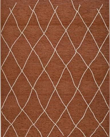Hnědo-oranžový venkovní koberec Universal Sigrid, 57 x 110 cm