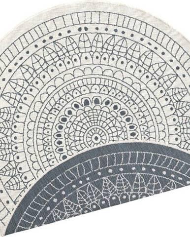Šedo-krémový venkovní koberec Bougari Porto, ⌀ 140 cm