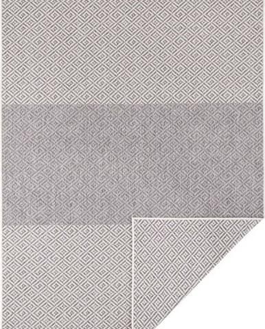 Světle šedý oboustranný venkovní koberec Bougari Borneo, 80 x 150 cm