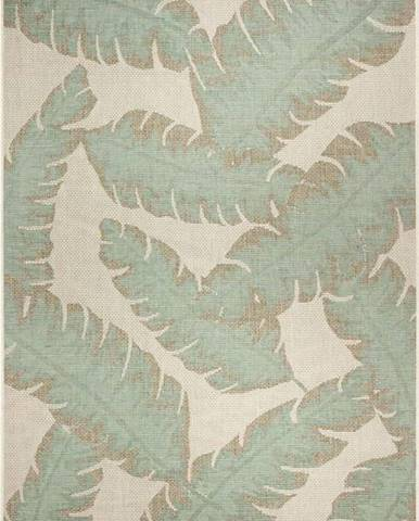 Zeleno-béžový venkovní koberec Ragami Leaf, 140 x 200 cm