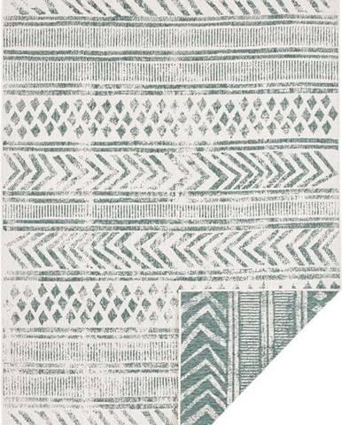 Zeleno-krémový venkovní koberec Bougari Biri, 80 x 150 cm