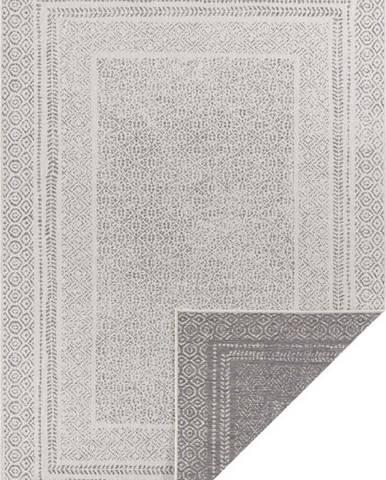 Šedo-bílý venkovní koberec Ragami Berlin, 80 x 150 cm