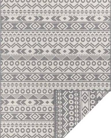 Šedo-bílý venkovní koberec Ragami Roma, 80 x 150 cm