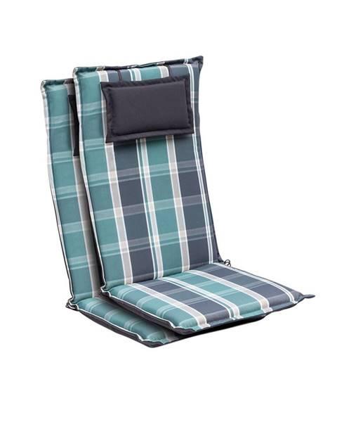 Blumfeldt Blumfeldt Donau, polstry, polstry na židli, vysoké opěradlo, zahradní židle, polyester 50 x 120 x 6 cm