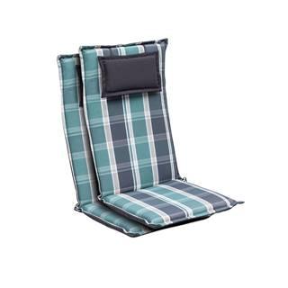Blumfeldt Donau, polstry, polstry na židli, vysoké opěradlo, zahradní židle, polyester 50 x 120 x 6 cm