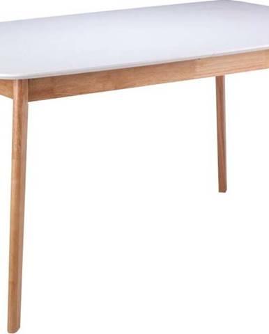 Bílý jídelní stůl s podnožím z kaučukovníkového dřeva sømcasa Enma, délka 140 cm