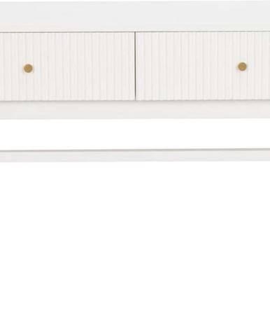 Bílý konzolový stolek z kaučukového dřeva Rowico Lewiston