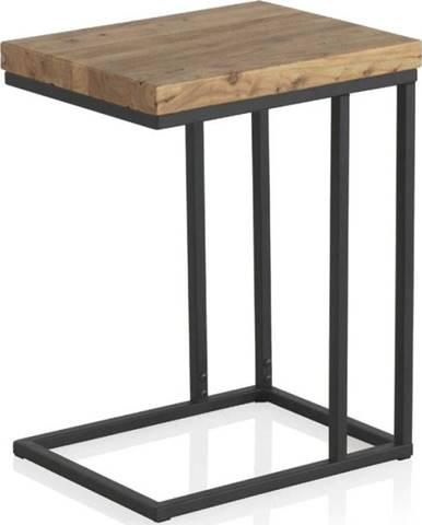 Odkládací stolek s deskou z jilmového dřeva Geese Lorena