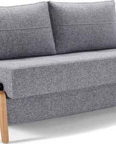Šedá rozkládací pohovka Innovation Cubed Wood Twist Granite, 96x147cm