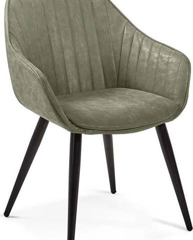 Zelená jídelní židle La Forma Herbert