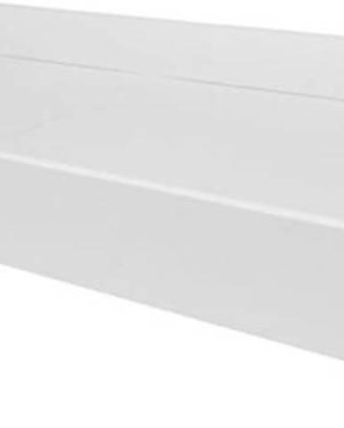 Bílá úložná police na kolečkách pod postel z kolekce BELLAMY UP, 70x120cm