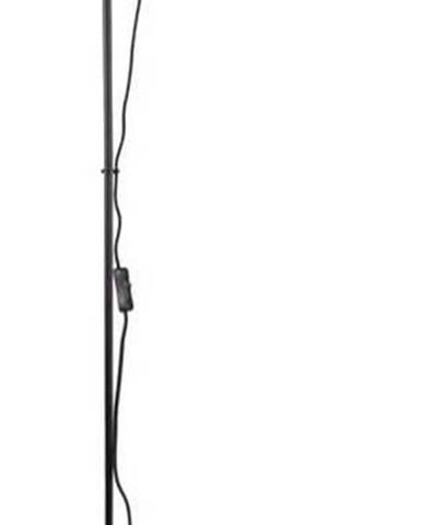 Černá stojací lampa Leitmotiv Mini Cone,výška147,5cm