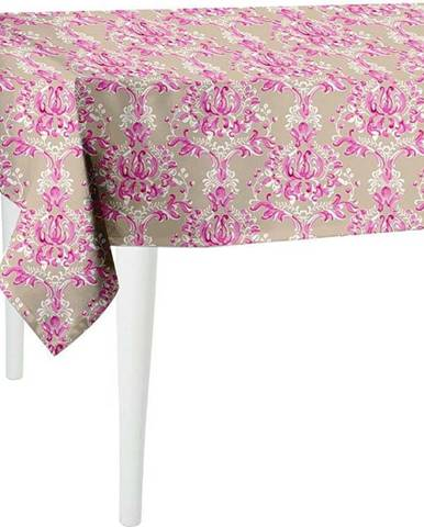 Béžovo-růžový ubrus Mike & Co. NEW YORK Butterflies,140x140cm