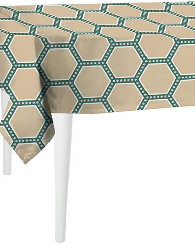 Béžovo-zelený ubrus Mike & Co. NEW YORK Honey Beige,220x140cm