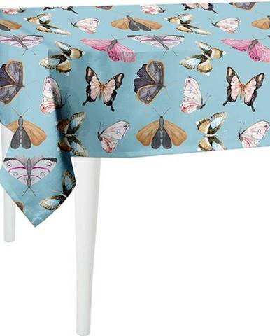 Modrý ubrus Mike & Co. NEW YORK Butterflies,140x140cm