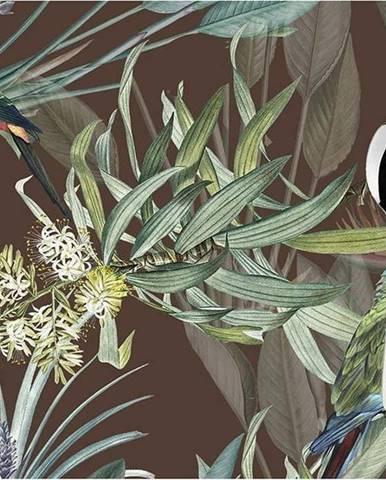 Sada 2 hnědých prostírání Mike & Co. NEW YORK Jungle Birds,33x45cm